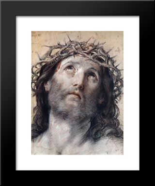 Ecce Homo: Modern Black Framed Art Print by Guido Reni