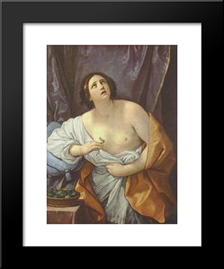 Cleopatra: Modern Black Framed Art Print by Guido Reni