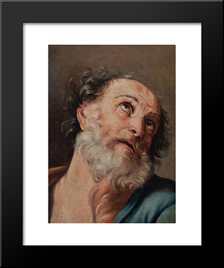 Saint Peter: Modern Black Framed Art Print by Guido Reni