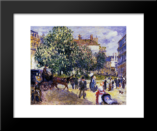 Place De La Trinite: Modern Black Framed Art Print by Pierre Auguste Renoir