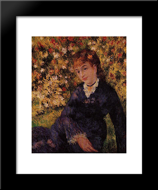 Summer: Modern Black Framed Art Print by Pierre Auguste Renoir