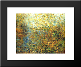 The Seine At Argenteuil: Modern Black Framed Art Print by Pierre Auguste Renoir