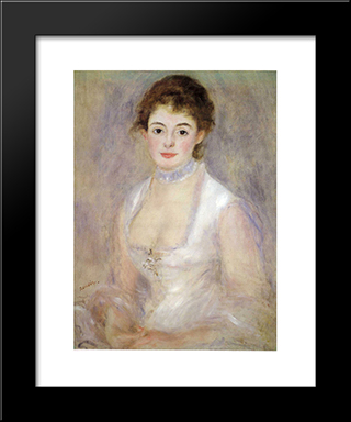 Madame Henriot: Modern Black Framed Art Print by Pierre Auguste Renoir