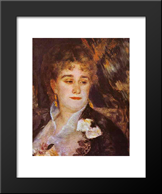 Madame Charpentier: Modern Black Framed Art Print by Pierre Auguste Renoir