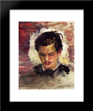 Portrait Of Georges Riviere: Modern Black Framed Art Print by Pierre Auguste Renoir