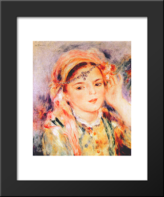 Algerian Woman: Modern Black Framed Art Print by Pierre Auguste Renoir