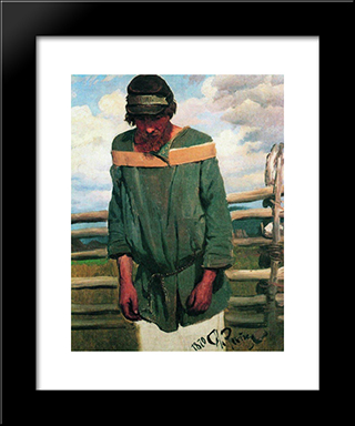 Burlak: Modern Black Framed Art Print by Ilya Repin