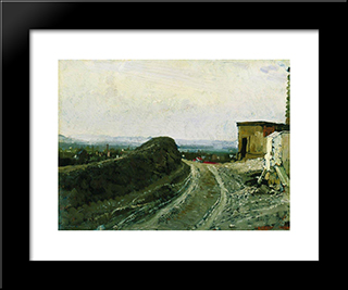 The Road From Montmartre In Paris: Modern Black Framed Art Print by Ilya Repin