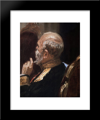 Portrait Of Professor Emeritus Of The Imperial Military Academy, Infantry General And Member Of State Council Nikolai Nikolayevich Obruchev: Modern Black Framed Art Print by Ilya Repin