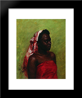 Negress: Modern Black Framed Art Print by Ilya Repin