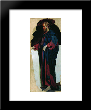Christ: Modern Black Framed Art Print by Ilya Repin