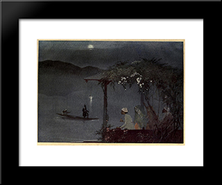 Fate And The Pleasure-Lovers: Modern Black Framed Art Print by Abanindranath Tagore
