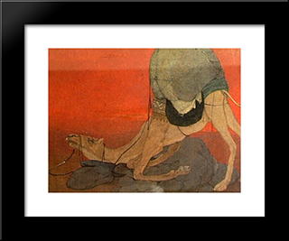 Journey'S End: Modern Black Framed Art Print by Abanindranath Tagore