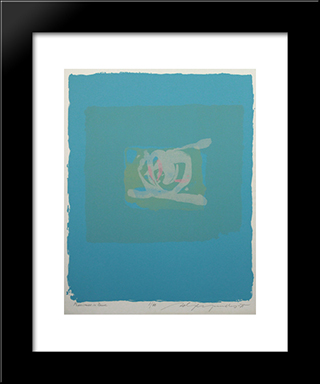 Plentitude In Blue: Modern Black Framed Art Print by Adja Yunkers
