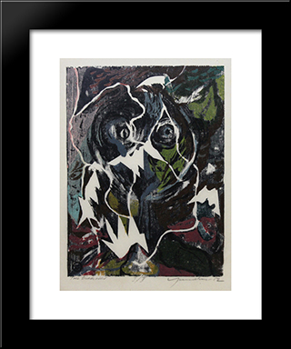 The Bird Lover: Modern Black Framed Art Print by Adja Yunkers