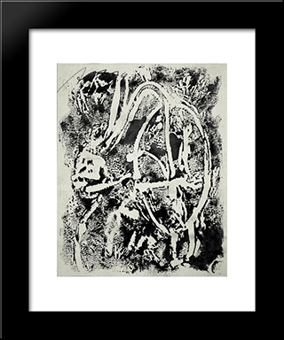 Untitled: Modern Black Framed Art Print by Adja Yunkers