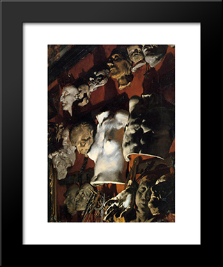 The Studio Wall: Modern Black Framed Art Print by Adolph Menzel