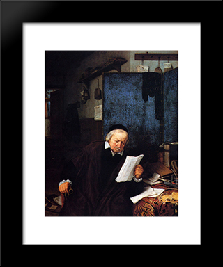 Lawyer In His Study: Modern Black Framed Art Print by Adriaen van Ostade