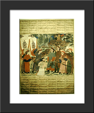 Afrasyab Kills Navdar: Modern Black Framed Art Print by Ahmad Musa