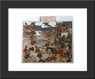 Darab And Rastnawan Fight The Rumis: Modern Black Framed Art Print by Ahmad Musa