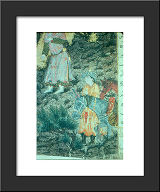 Iskandar At Israfil (Detail): Modern Black Framed Art Print by Ahmad Musa