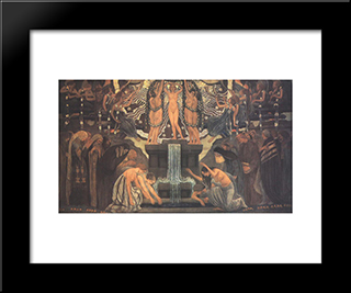 Fountain Of Art: Modern Black Framed Art Print by Aladar Korosfoi Kriesch