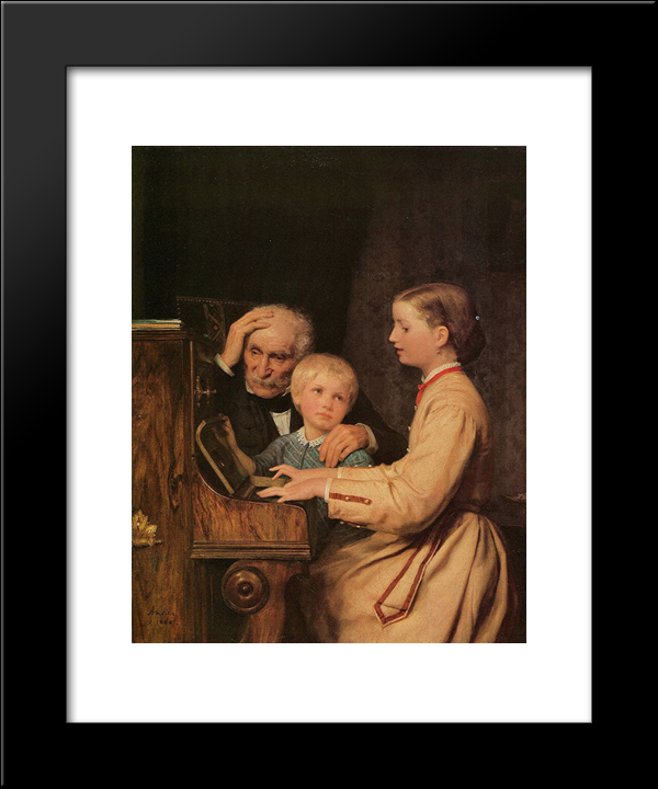 Die Verbannten: Modern Black Framed Art Print by Albert Anker