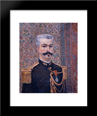 Portrait Of Monsieur Pool: Modern Black Framed Art Print by Albert Dubois Pillet