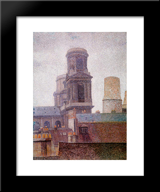 The Towers, Saint-Sulpice: Modern Black Framed Art Print by Albert Dubois Pillet