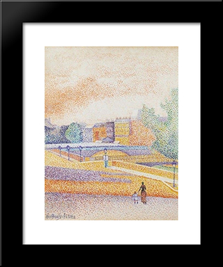 Vue De Paris: Modern Black Framed Art Print by Albert Dubois Pillet
