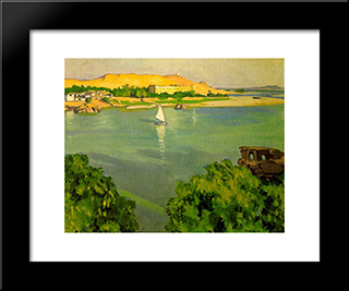 Assouan, Morning: Modern Black Framed Art Print by Albert Marquet