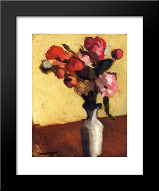 Bouquet Of Flowers: Modern Black Framed Art Print by Albert Marquet