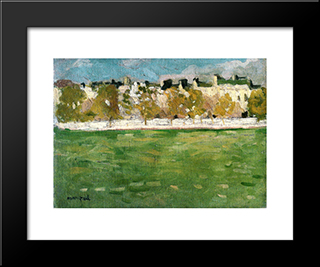 Embankments Of The Seine In Paris: Modern Black Framed Art Print by Albert Marquet