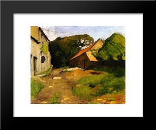 Farmyard At La Percaillerie (Normandy): Modern Black Framed Art Print by Albert Marquet