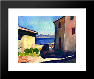 House At Saint-Tropez: Modern Black Framed Art Print by Albert Marquet