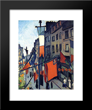 July 14Th At Havre: Modern Black Framed Art Print by Albert Marquet