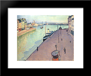 Le Havre: Modern Black Framed Art Print by Albert Marquet