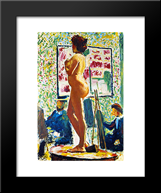 Life Class At The Ecole Des Beaux-Arts (Fauvist Nude): Modern Black Framed Art Print by Albert Marquet