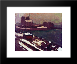 Notre-Dame In Winter: Modern Black Framed Art Print by Albert Marquet