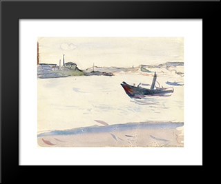 Outskirts Of Paris: Modern Black Framed Art Print by Albert Marquet
