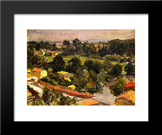 Parisian Suburb: Modern Black Framed Art Print by Albert Marquet