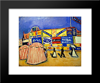 Posters At Trouville: Modern Black Framed Art Print by Albert Marquet