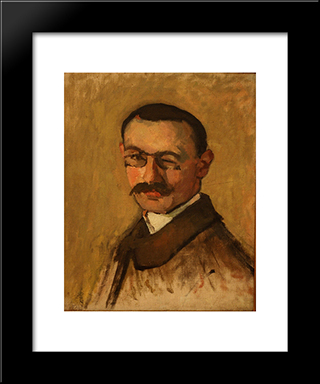 Self-Portrait: Modern Black Framed Art Print by Albert Marquet
