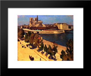 The Apse Of Notre Dame: Modern Black Framed Art Print by Albert Marquet