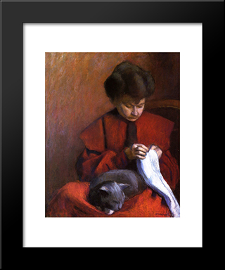 The Artist'S Mother: Modern Black Framed Art Print by Albert Marquet