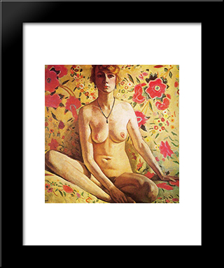 The Blonde Woman: Modern Black Framed Art Print by Albert Marquet