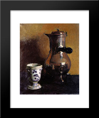 The Coffeepot: Modern Black Framed Art Print by Albert Marquet