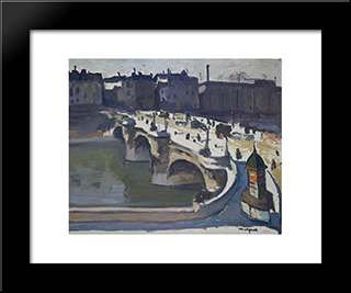The Pont Neuf: Modern Black Framed Art Print by Albert Marquet