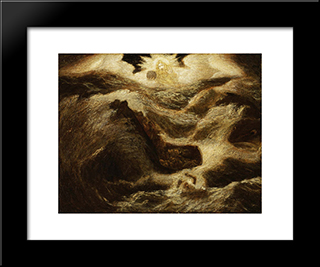Jonah: Modern Black Framed Art Print by Albert Pinkham Ryder