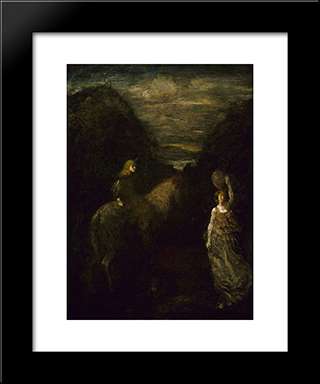 King Cophetua And The Beggar Maid: Modern Black Framed Art Print by Albert Pinkham Ryder